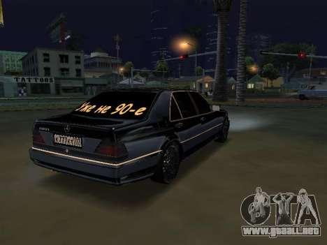 Mersedes-Benz W140 600SEL para GTA San Andreas left