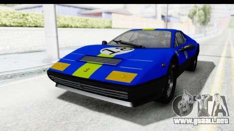 Ferrari 512 GT4 BB 1976 para visión interna GTA San Andreas