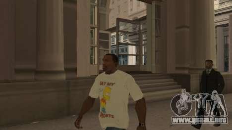 Bart Simpson T-Shirt para GTA San Andreas segunda pantalla