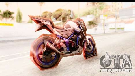 Yamaha MT-25 (MT-03) para GTA San Andreas left