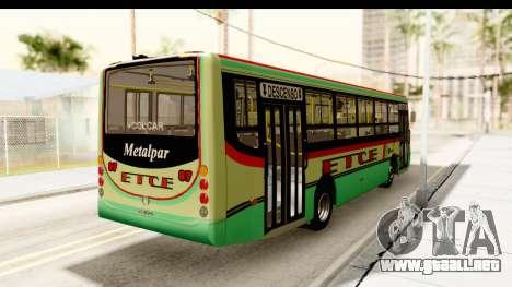 Metalpar Tronador 2 Puertas ETCE GTA Micros Arg para GTA San Andreas vista posterior izquierda