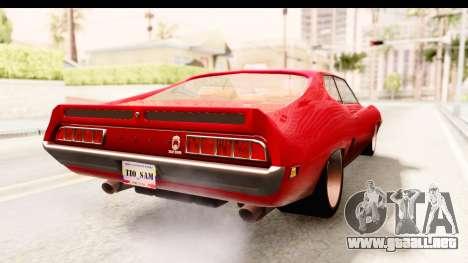Ford Torino para GTA San Andreas vista posterior izquierda