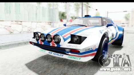 GTA 5 Lampadati Tropos Rallye IVF para el motor de GTA San Andreas
