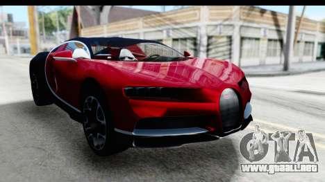 Bugatti Chiron 2017 v2 para la visión correcta GTA San Andreas