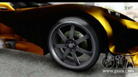 NFS Carbon Chevrolet Corvette para GTA San Andreas vista hacia atrás