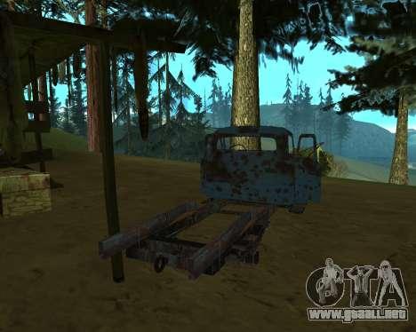 Viejo oxidado de GAS 53 para GTA San Andreas tercera pantalla