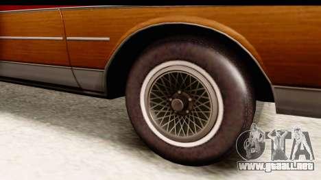 Chevrolet Caprice 1989 Station Wagon IVF para GTA San Andreas vista hacia atrás