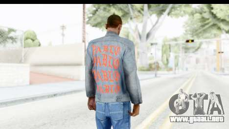 PABLO Denim Jacket para GTA San Andreas tercera pantalla