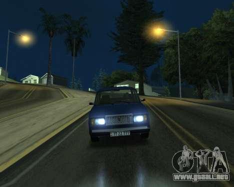 VAZ 2107 Armenian para la visión correcta GTA San Andreas