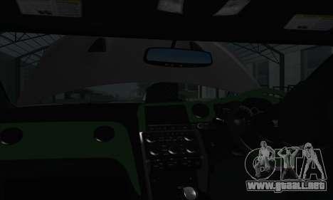 Nissan GT-R R35 Green Screen para GTA San Andreas vista hacia atrás