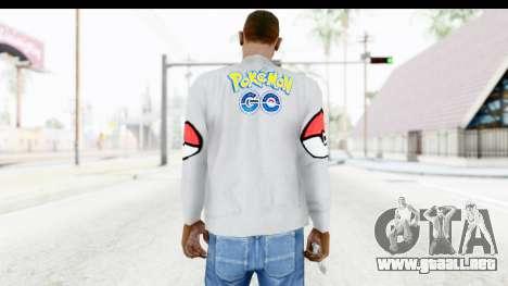 Sweat Pokemon Go Pikachu para GTA San Andreas segunda pantalla
