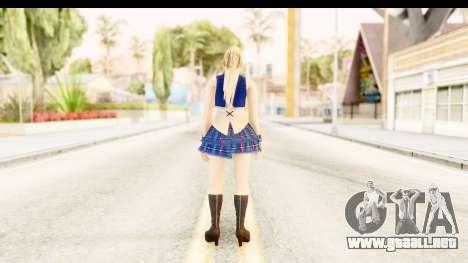 DoA 5 - Sarah Pop Idol para GTA San Andreas tercera pantalla