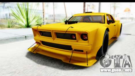 GTA 5 Declasse Drift Tampa para GTA San Andreas vista posterior izquierda