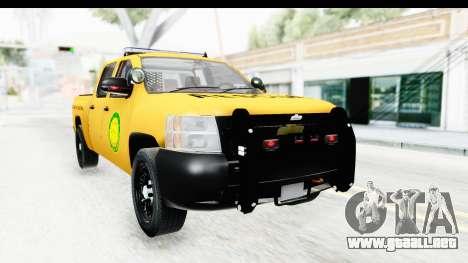 Chevrolet Silvedaro Basarnas para la visión correcta GTA San Andreas