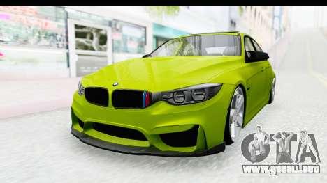 BMW M3 F30 Hulk para GTA San Andreas