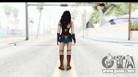 Injustice God Among Us - Wonder Woman BVS para GTA San Andreas tercera pantalla