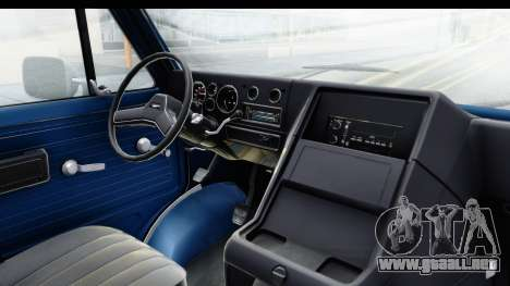 GMC Vandura 1985 White Stripes HQLM para visión interna GTA San Andreas