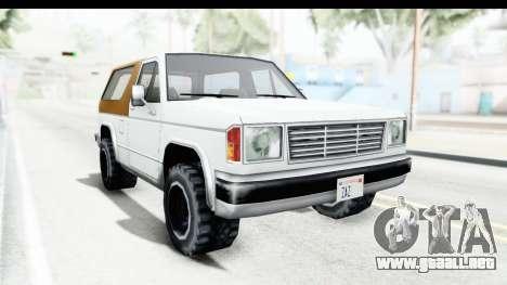 Ford Bronco from Bully para GTA San Andreas