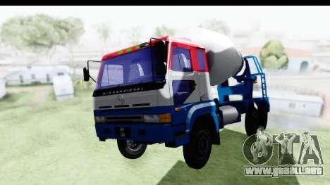 Nissan Diesel UD Big Thumb Cement Babena para la visión correcta GTA San Andreas
