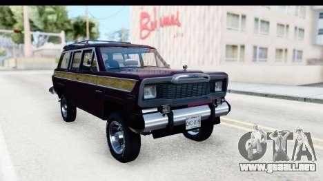 Jeep Grand Wagoneer para GTA San Andreas