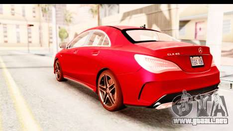 Mercedes-Benz CLA45 AMG 2014 para GTA San Andreas left