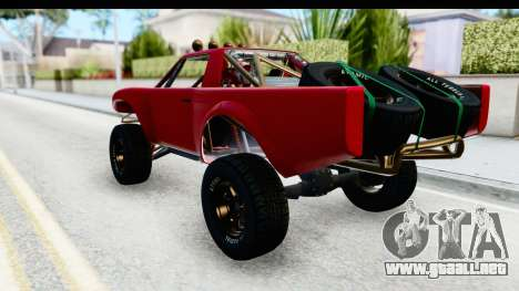 GTA 5 Trophy Truck SA Lights para GTA San Andreas left