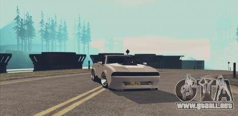 Elegy Ibragim para GTA San Andreas vista hacia atrás