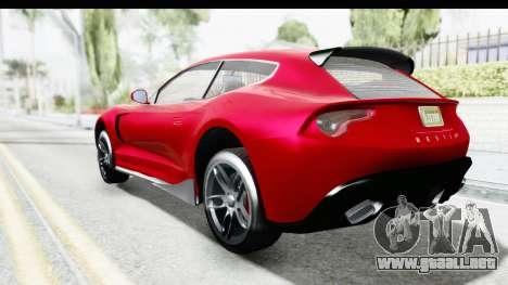 GTA 5 Grotti Bestia GTS with MipMap IVF para GTA San Andreas left