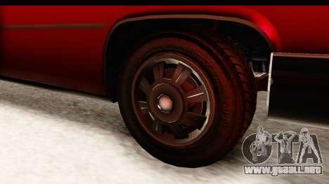 GTA 5 Albany Emperor IVF para GTA San Andreas vista hacia atrás