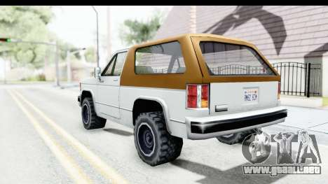 Ford Bronco from Bully para GTA San Andreas left