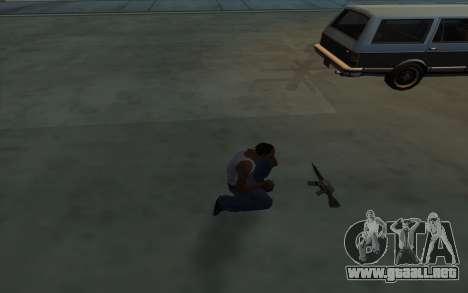 La posesión de armas para GTA San Andreas tercera pantalla