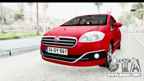 Fiat Linea 2015 v2 para la visión correcta GTA San Andreas