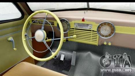 GAS М20В Victoria 1955 SA Placa para GTA San Andreas vista hacia atrás