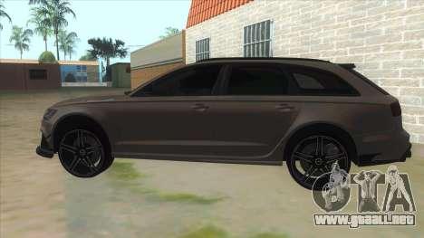 Audi RS6-R para GTA San Andreas left