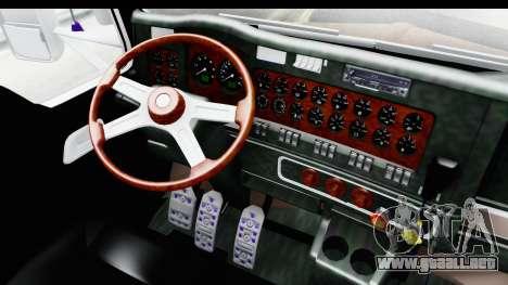 Kenworth T800 Centenario Studio Sleeper Toys para visión interna GTA San Andreas
