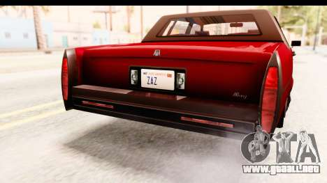 GTA 5 Albany Emperor IVF para GTA San Andreas interior