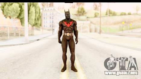 Batman Arkham City Batman Beyond para GTA San Andreas segunda pantalla