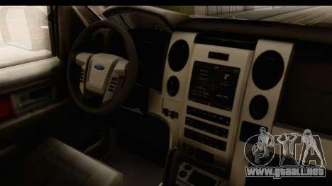 Ford F-150 Tuning para visión interna GTA San Andreas