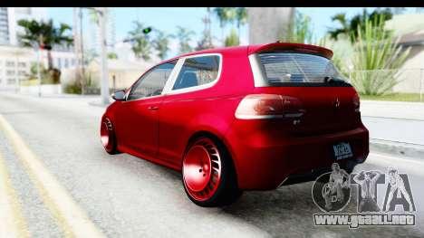 Volkswagen Golf R para la visión correcta GTA San Andreas