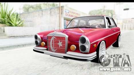 Mercedes-Benz 300SEL para GTA San Andreas vista posterior izquierda