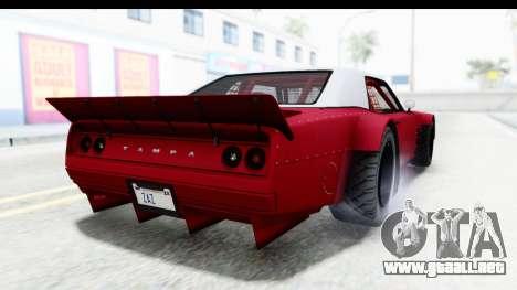 GTA 5 Declasse Drift Tampa IVF para GTA San Andreas left
