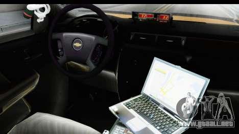 Chevrolet Silvedaro Basarnas para visión interna GTA San Andreas