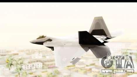 Lockheed Martin F-22 Raptor para GTA San Andreas left