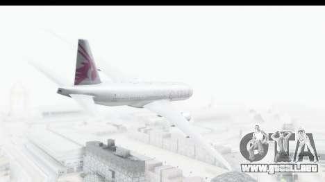 Boeing 777-200LR Qatar Airways para GTA San Andreas left