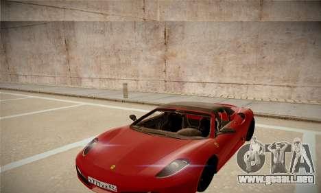 Ferrari F430 Spider para la visión correcta GTA San Andreas