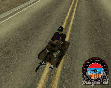 El velocímetro en el estilo de la bandera de arm para GTA San Andreas sexta pantalla