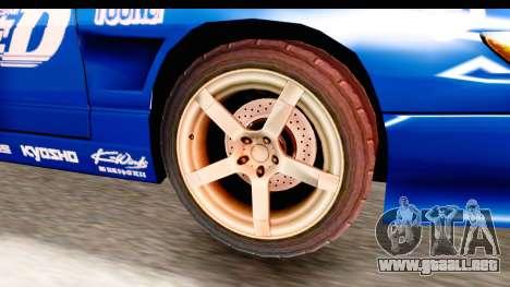 Nissan Sileighty 2015 D1GP para GTA San Andreas vista hacia atrás