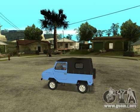 Luaz 969 Armenian para GTA San Andreas vista hacia atrás