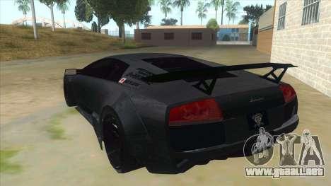 Lamborghini Liberty Walk para GTA San Andreas vista posterior izquierda