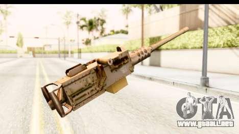M2 Browning para GTA San Andreas segunda pantalla